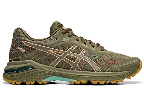 ASICS Women's GT-2000 7 Trail Running Shoes, 9M, Mantle Green/Olive Canvas