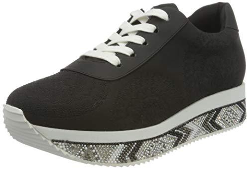 Desigual Sneakers Wedge, Baskets pour Femme, Noir, 37 EU
