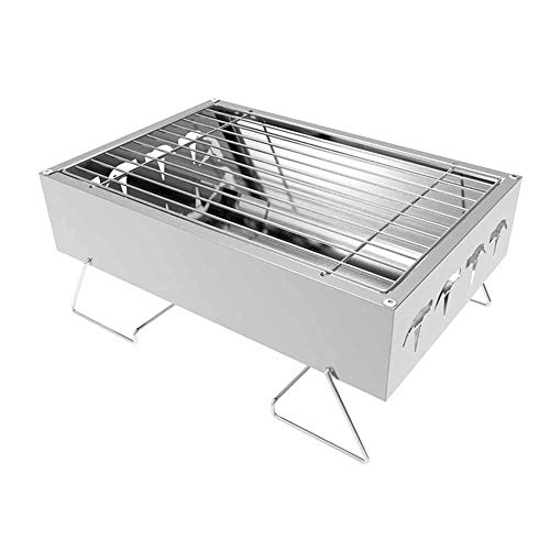 Barbecue Grill, Charcoal Barbecues, Portable BBQ Grill, Stainless Steel, Foldable Smoker BBQ, For Picnic Garden Terrace Camping Travel