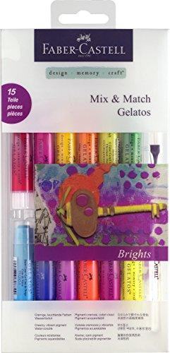 Faber-Castell Gelatos - Aquarellkreiden, Geschenkset mit 33 Stück Mix & Match, Aquarellkreiden - leuchtend (Bright)