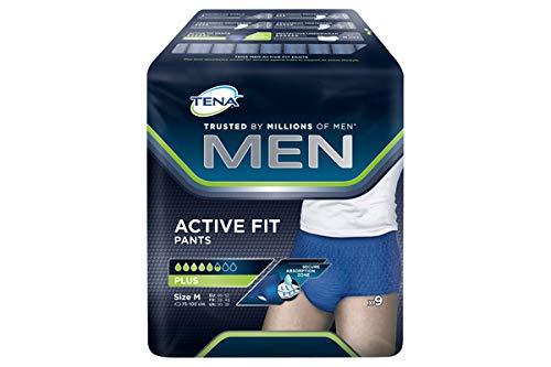 Tena Men Active Fit Plus M - Pantalones para hombre (1 x 12 unidades)