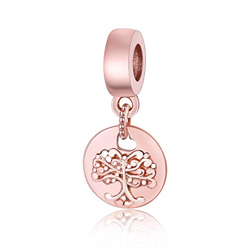 QNWLKJ Fit Original Pandora Pulseras DIY Plata de Ley 925 Nueva colección Cuentas Redondas Dangle Charms Beads Europa para la fabricación de Joyas