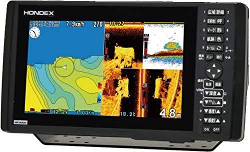 ホンデックス(HONDEX) プロッター魚探 HE-9000 振動子TD802付属 9型ワイド液晶搭載 バスフィッシングモデ...