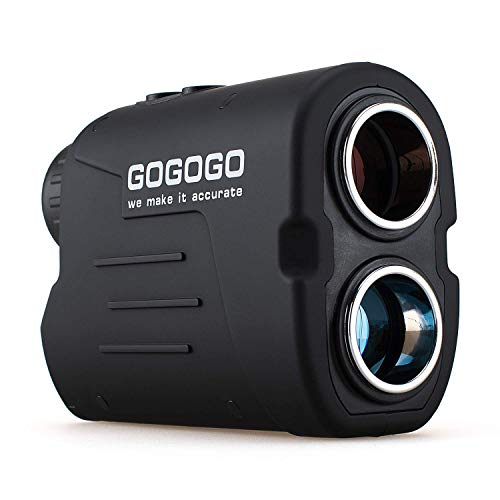 Gogogo Sport Laser Golf/Hunting Rangefinder, 6X Magnification Clear View 650/900 Yards Laser Range Finder, Accurate Scan, Slope Function, Pin-Seeker & Flag-Lock & Vibration, Easy-to-Use Range Finder