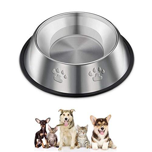 Laat Pet Edelstahl-Futternapf, Schüssel aus Edelstahl für Hunde und Katzen