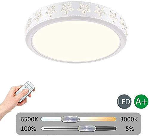 Witte Led Plafond Licht Flush Mount, 32 w Dimbaar Ronde Plafond Lamp Ultra-Dunne Plafondlamp Fixture voor Woonkamer Slaapkamer Keuken Hallway Badkamer dimbaar 52x52x10cm