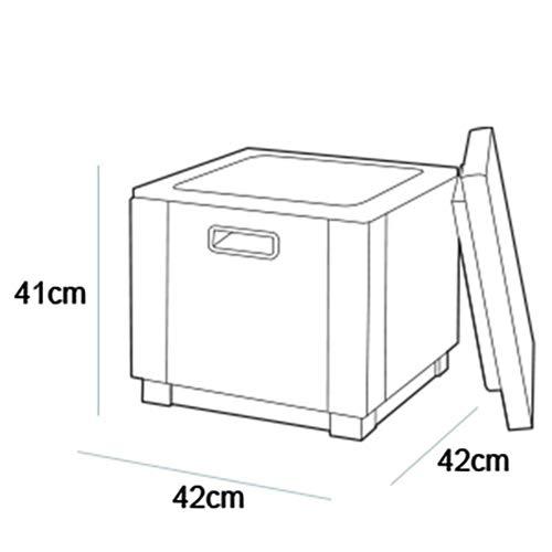Allibert Beistelltisch/Kühlbox Ice Cube 40 Liter, graphit - 7