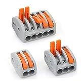 Conector de tuerca de palanca, 50 unidades de conectores de cable compactos, bloque de ter...