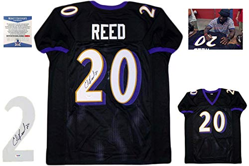 Ed Reed Autographed Signed Jersey - Black - Beckett Authentic
