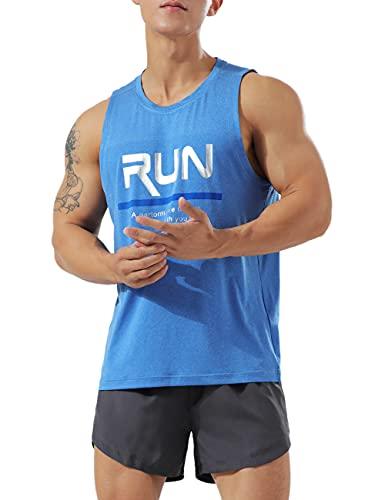 Muscle Alive Hombres Deportes Culturismo Camisetas Fitness Aptitud física Corriendo Tops