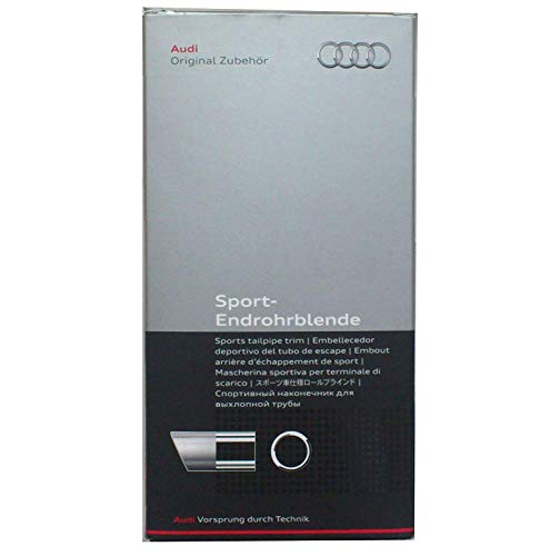 Embellecedor para tubo de escape deportivo Audi, color plateado mate (8P0071771A)