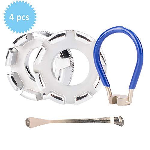 TBoonor Fahrrad Speichenschlüssel Speichenspanner Rad Zentrierer Nippelspanner Spannschlüssel mit Reifenheber Speichenschlüssel Fahrrad Werkzeuge für Speichen Größe 10-15 Fahrrad reparieren