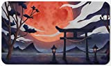 Paramint Blood Moon Torii Gate - MTG Playmat - Compatible for Magic The Gathering Playmat - Play MTG, YuGiOh, Pokemon, TCG - Original Play Mat Art Designs & Accessories