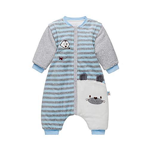 Babyschlafsack Sack Abnehmbare Ärmel Walker Winter Fleece Schlafsack mit Füßen Tragbare Decke Wickel für Jungen Mädchen