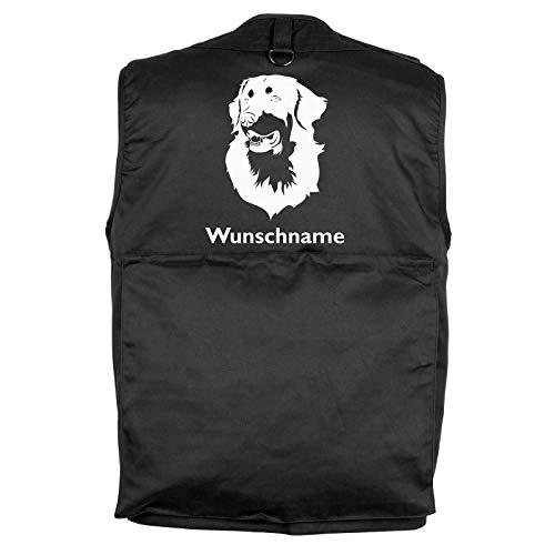 Tierisch-tolle Geschenke Hovawart - Hundesportweste mit Rückentasche und Namen (M)
