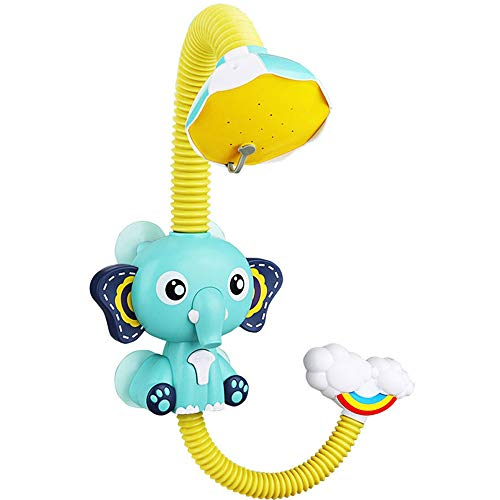 Buy Discount GFQTTY Waterfall Shower Toy for Toddlers, Electric Durable Water Pump Elephant Head Bat...