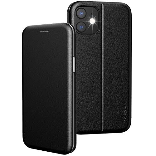 BYONDCASE iPhone 11 Flip-Hülle Hülle [Deluxe Leder Klapphülle] Handyhülle mit Einer 360 Grad Fullbody R&umschutz-Funktion in Schwarz Ultra Slim Fliptasche kompatibel mit dem iPhone 11