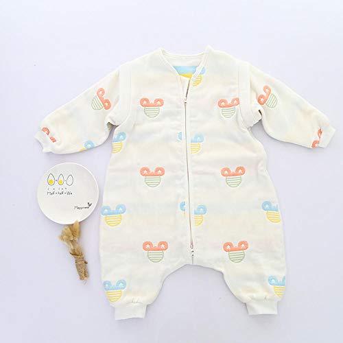 B/H Winterschlafsack wattiert,Super weicher und atmungsaktiver Babyschlafsack mit abnehmbaren Ärmeln-D_M,Ganzjahres Baby-Schlafsack