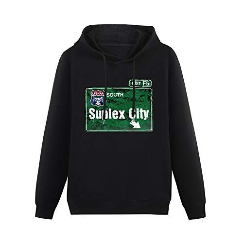 Brock Lesnar Suplex City Hoodies Pullover Long Sleeve Sweatshirts Black 3XL