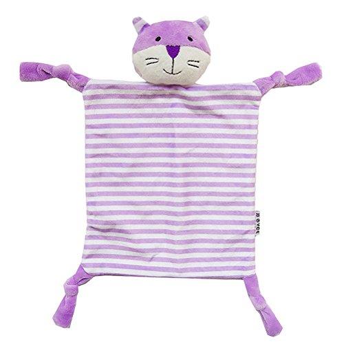 YeahiBaby Doudou per neonato Copertina sicurezza Neonati di Peluche Baby Comforter (Gatto Viola)