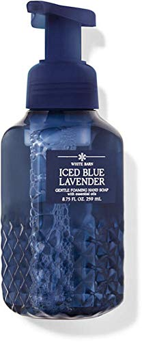 White Barn Candle Company Bath and Body Works Gentle Foaming Hand Soap w/Essential Oils- 8.75 fl oz - Winter 2020 - Many Scents! (Iced Blue Lavender)