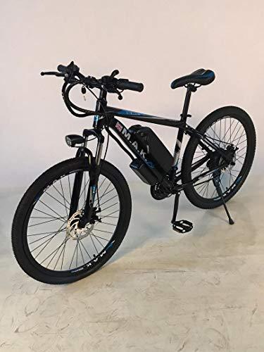 "ELECTRIC E-BIKE MOUNTAIN BIKE BICYCLE HARDTAIL MTB BY MAK CYCLES ADULTS 27.5"" CYCLE PUSH BIKE SHIMANO GROUP AND BRAKE SET - BLACK"