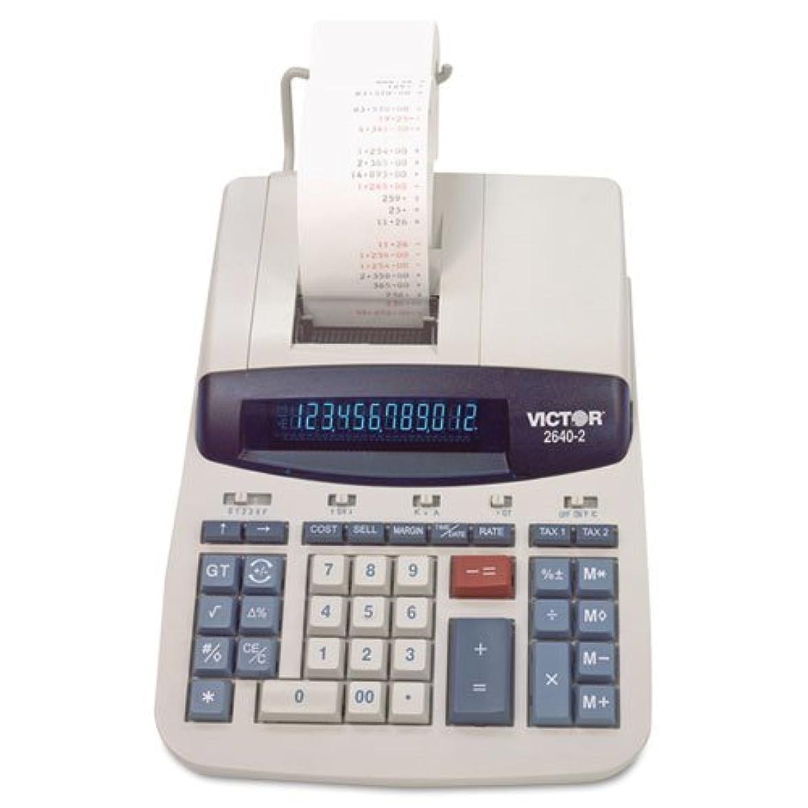昇る空作者Victor?–?2640?–?2?2色印刷電卓、ブラック/レッド印刷、4.6?Lines / sec 2640?–?2?( DMI EA