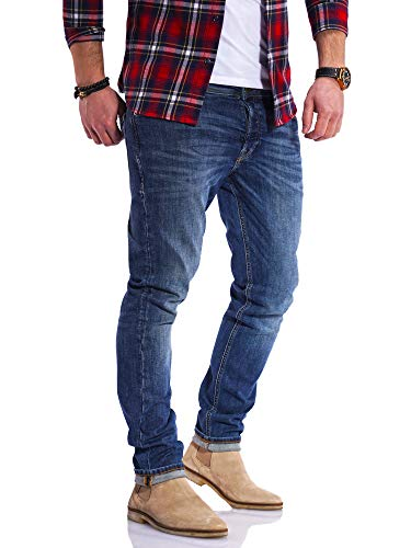 JACK & JONES Herren Jeans Glenn ARIS Slim Fit Stretch Denim (W34 L32, Dark Blue Denim)