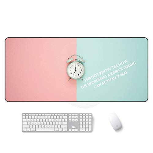 Gaming mouse pad Comfortable expansion large mouse pad Waterproof keyboard pad with non-slip base, stitched edges, smooth surface, can be used for computers and desks