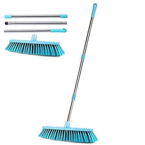 KMAKII デッキブラシ 40cmの大きなブラシヘッド 浴室掃除用ブラシ タイルブラシ バスルーム、キッチン、パティオ、ガレージ、デッキ、タイル、大理石、石、木製の床を清掃するために