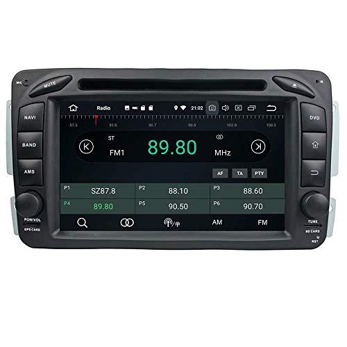 ROADYAKO Android 8.0 pour Benz ML W163 / W209 2002 2003 2004 2005 / W203 / SLKW170 / W210 / W168 Autoradio Stéréo GPS Navigation 3G Lien WiFi Lien Miroir RDS FM AM Bluetooth