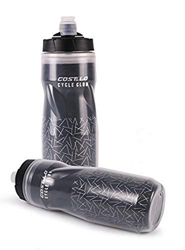 Botella de Agua portátil de los Deportes, Prueba de Fugas de Ciclo de la Botella de Agua para Las bicis de montaña de Ciclo (Grey)