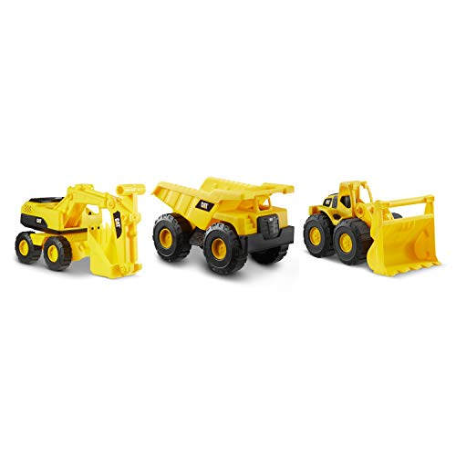 Cat Construction 7' Dump Truck, Loader & Excavator Toys Combo Pack