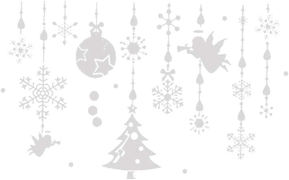 Snowflakes Wall Stickers Christmas Ranking TOP8 Max 43% OFF Sticker Decorative