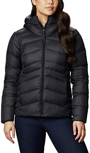 Columbia Women s Autumn Park Down Hooded Jacket Black Large product image