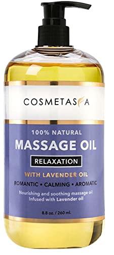 Sensual Lavender Massage Oil - No Stain 100% Natural Blend...