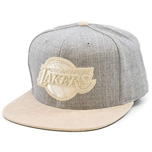Mitchell & Ness Heather Suede LA Lakers - Gorra, color gris