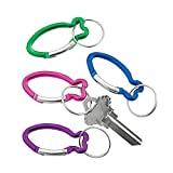 Aluminum Fish Clip Key Chains - Set of 12 - VBS, Sunday School and Religious Accessories