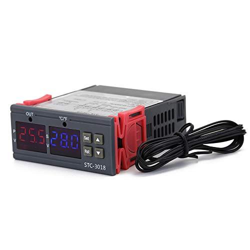 ROEAM Digitaler Temperaturregler ℃ / ℉ Thermostatrelais 10A Heizen/Kühlen Temperaturregler mit automatischer Umstellung und doppelter LED-Anzeige