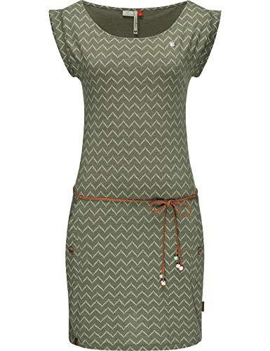 Ragwear Damen Baumwollkleid Jerseykleid Sommerkleid Strandkleid Tag Zig Zag Olive20 Gr. L