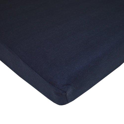 American Baby Company Jersey Knit Crib Sheet, Navy
