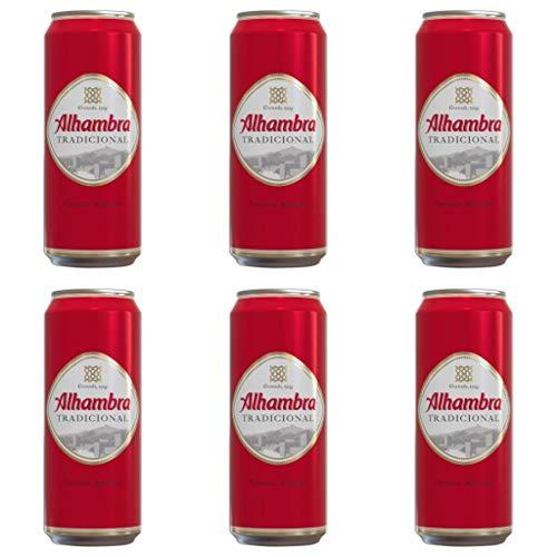 ALHAMBRA TRADICIONAL Lager Bier 4.6% Alkohol. Dosen 500 ml. EINWEG Bierpaket. biere der welt, bier set, geschenke für männer (24 dosen, 0.5l)