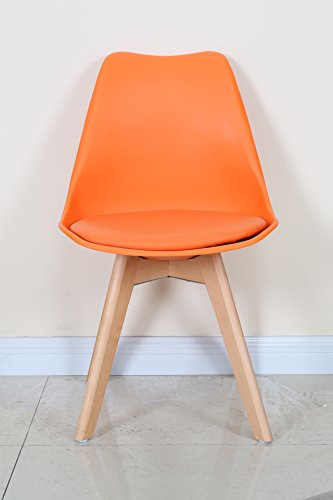 KADIMA DESIGN 2X Chaise Monica Orange, 80 x 48 x 54