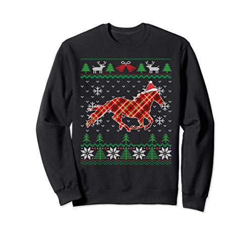 Cavallo Brutto Natale equestre Horse Ugly Christmas Felpa