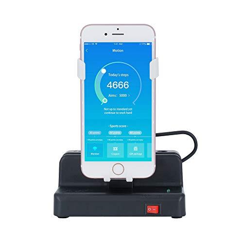 Mcbazel Automatisches Schritt-Erfassungsgerät für Pokemon GO/Walkr/Google Fit IOS Android Handy-Schrittzähler Schwarz/Weiß