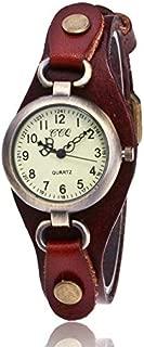 Elegant Watches for Women Fashion Luxury Lady Watch Leather Retro Bronze Small Dial Quartz Watch for Women Female Belt Watch (Color : Dark Coffee)