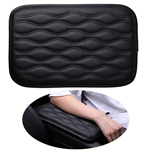 Pengxiaomei Center Console Pad, Black Car Armrest Pad Car Armrest Seat Box Cover Protector for Most Vehicle, SUV, Truck, Car