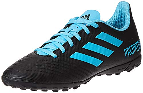 adidas Predator 19.4 TF, Zapatillas de Fútbol para Hombre, Multicolor (Core Black/Bright Cyan/Solar Yellow F35636), 43 1/3 EU