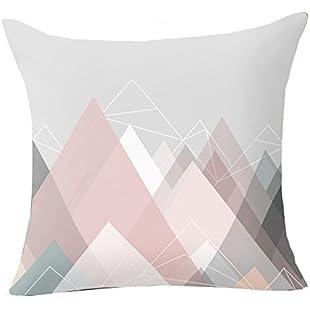 Pu Ran Flower Geometric Pattern Throw Pillow Case Cushion Cover Home Sofa Decor - 17 Pink Graphic:Btc4you