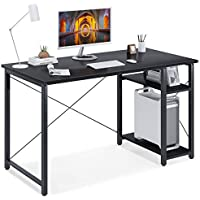 Motpk 47 Inch Computer Desk with Multi-Functional Shelves